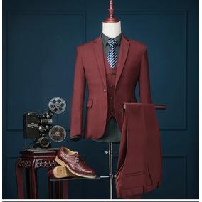 Terno Moda Masculina Ternos Jacket + Colete + Calça