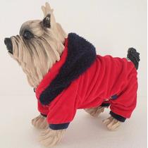 Roupa Inverno Buldogue Macacão Polar Cachorro Pijama