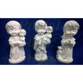 Kit 30 Imagens Santos Católicos Em Gesso Infantil Baby 15 Cm