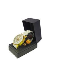 Relógio Feminino Dourado Silicone Atacado Revender