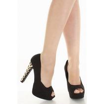 Zapatos Suede Negro Plataforma Importados Usa