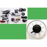 Kit Conversão Bike Elétrica 600w 36v Tras. Com Bat. Lithium