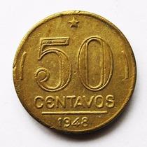 Moeda 50 Centavos 1948 Presidente Dutra