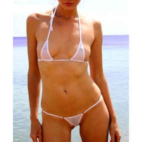 Micro Bikini Fio Dental Tule Transparente Mini Sexy