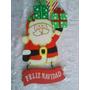 Figura De Santa En Mdf Aprox 28cm Decoracion Navidad Puerta