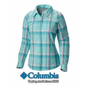 Camisa Columbia Dama Silver Ridge Cuadros S-m Weekendpesca