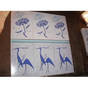Cerámicas De Flores Y Pájaros En Lote De 9 Unid.