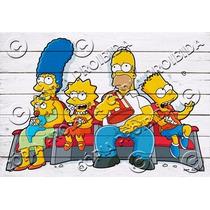 Placa Vintage King Mdf 39x27cm Simpsons Art Bc.03566