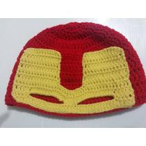 Touca Crochê Ironman / Homem De Ferro