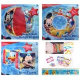 5 Artículo Bundle: Piscina Inflable Mickey Mouse Juguetes P