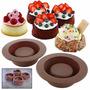 4 Brownie Bowl Mini Torta Moldes Silicona Envio Gratis