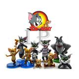 Tom Y Jerry Set X 9 Figuras Muñecos De Pvc Adorno De Tortas