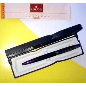 Caneta Crown Recarregavel Com Case/estojo Luxo Mod.yw16944l