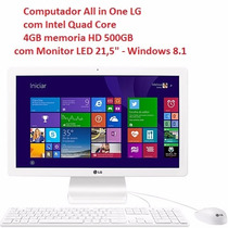 Computador All In One Lg Intel Quad Core Tela 22 Polegadas