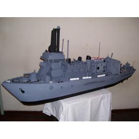 Maqueta Escultura Fragata De Guerra Barco Materiales Recicla