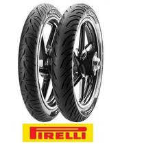 Par Pneu Pirelli 2.75-18 E 90/90-18 Super City Cg150 Titan