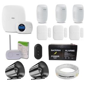Kit Central Alarme Monitorada Intelbras Amt 2018eg Completo