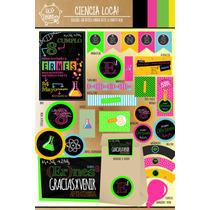 Kit Imprimible Personalizado Cientifico Ciencia Loca !