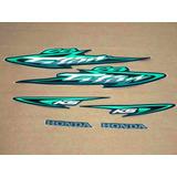Kit Adesivos Faixas Honda Cg 125 Titan Ks 2003 - Verde