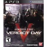 Armored Core: Verdict Day - Ps3 Mídia Física Lacrado | Rcr