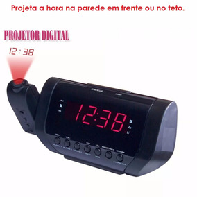 Rádio Relógio Am/fm Projetor Digital Hora Despertador Bivolt