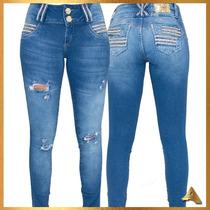 Calça Jeans Feminina Afront Estilo Pitbull Rasgadinha