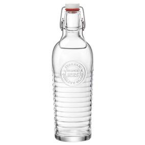 Garrafa 1,2l De Vidro Transparente Offi 1825 Bormioli Rocco