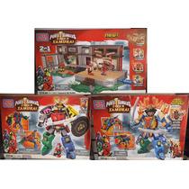 3 Set Power Rangers Samurai 1136 Pzs En Total Mega Bloks