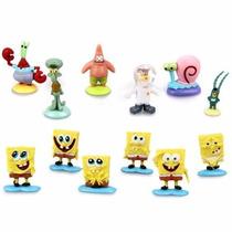 Bob Esponja Colección 12 Figuras -envio Gratis-