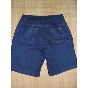 Bermuda Jeans Cintura Alta Tamanho 44 E 46 Com Elastano
