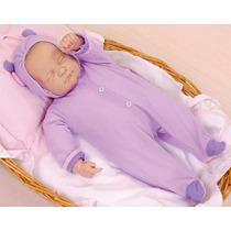 Boneca Bebe Ninos Dormindo Branca Cotiplás Tipo Reborn