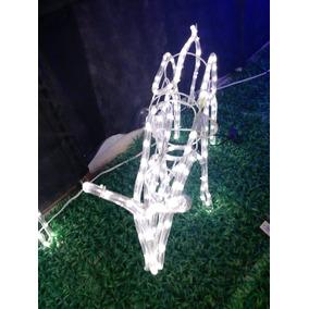 Rena Decoração Natal Articulada Fêmea 110v 245 Leds Branco