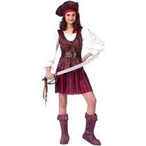 Disfraz Niño High Seas Buccaneer Pirate Girl Traje - Pequeñ