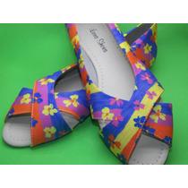 Sapatilha Feminina Exclusiva Lara Shoes Mult Color Nº 37/38