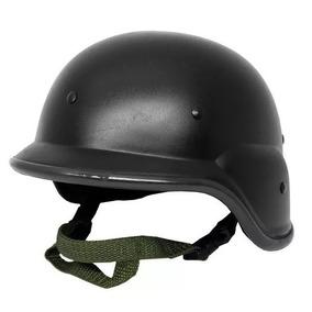 Capacete Airsoft M88 Preto Tático Swat Policia Resistente
