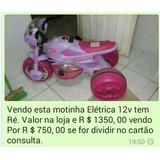 Vendo Motinha Elétrica Infantil 12v