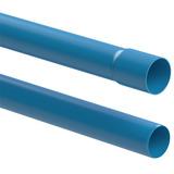 Tubo De Pvc 100mm Pn80 Azul Pbl 06 Metros P/ Irrigação