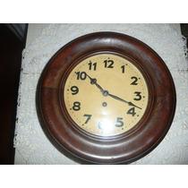 Antiguo Reloj De Pared Tipo De Ferrocarril