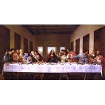 Lienzo En Tela, La Última Cena Leonardo Da Vinci. 50 X 90 Cm
