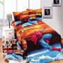 Conjunto De Cama Batman, Superman, Homem Aranha E Outros