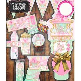 Kit Imprimible Baby Shower Motivo Carrusel