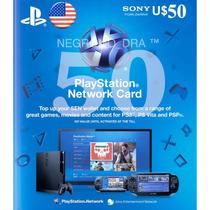 Tarjeta Psn 50 Usa P/ Juegos Ps3, Ps4. Mercadolider