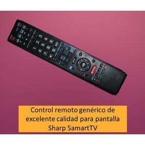 Control Remoto Para Pantalla Sharp Smart Tv