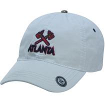 Gorra Clasica Atlanta Visera Curva Color Blanco Algodón 100%