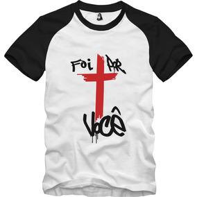 Camisa Camiseta Evangelica Cristã Raglan Foi Por Você