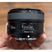 Nova Lente Yongnuo 50mm F/1.8 P/ Nikon Original Com Garantia