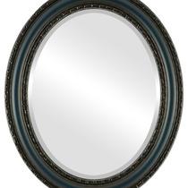 Espejo De Pared Dorset Framed Oval In Royal Blue, 15 X19