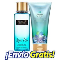 Set De Cremas Y Lociones Victoria Secret Originales Aqua Ki