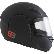 Capacete Moto Ebf E8 Articulado Robocop Preto Fosco Tam. 58