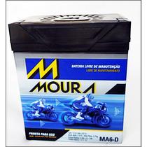 Bateria Moura Moto Ma6-d Gel Honda Twister Ytx7l-bs